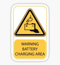 'Battery Charging' Warning sign Sticker
