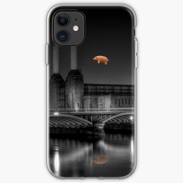 Battersea pink floyd edit iPhone Soft Case