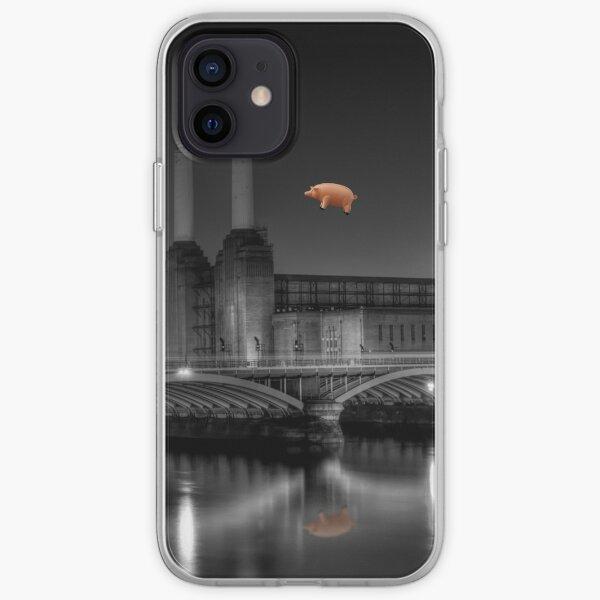 Battersea pink floyd modifier Coque souple iPhone