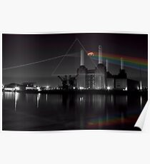 Battersea pink floyd pig and prism Poster