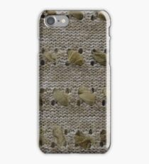 photo of fabric with linen texture iPhone Case/Skin