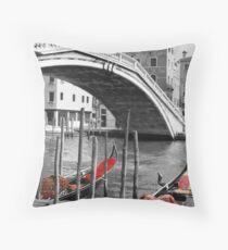 Venice Red Throw Pillow
