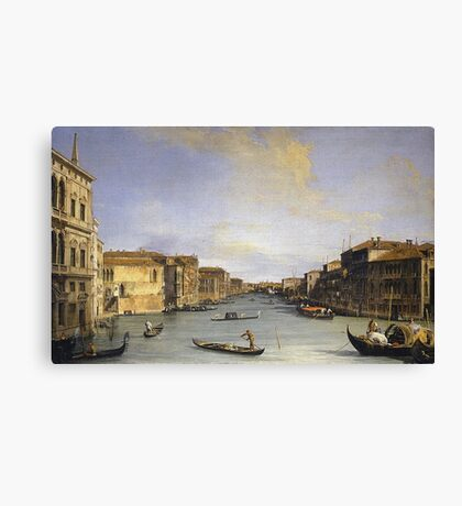 Canaletto - Grand Canal From The Palazzo Balbi Canvas Print