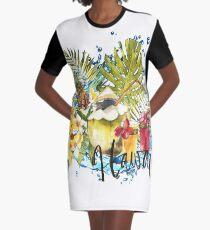 Tropical fruits Graphic T-Shirt Dress