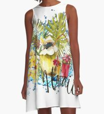 Tropical fruits A-Line Dress
