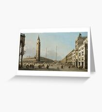 Canaletto - Piazza San Marco Looking South And West Greeting Card
