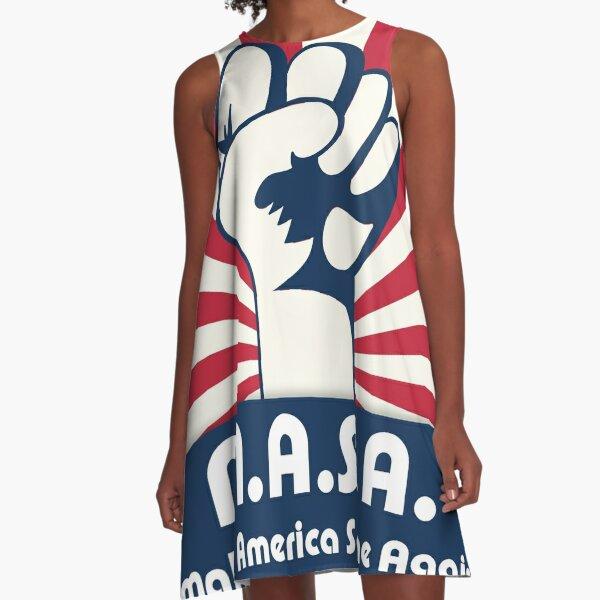 MASA Make America Sane Again Vestido acampanado