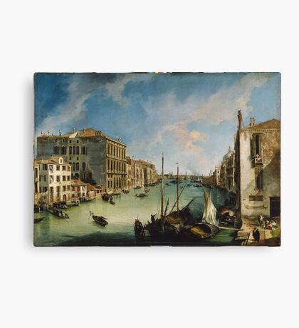 Canaletto - The Grand Canal From San Vio, Venice Canvas Print