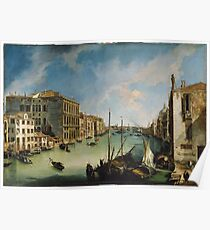 Canaletto - The Grand Canal From San Vio, Venice Poster