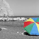 Beach Umbrella 1 by Kenneth Pang