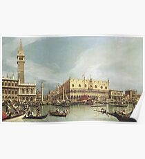 Canaletto - The Molo, Venice Poster