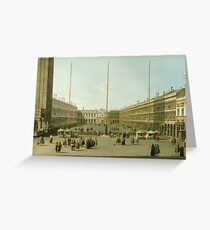 Canaletto - The Piazza San Marco Greeting Card