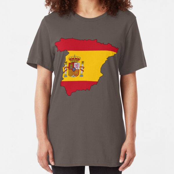 Spain Flag Country Slim Fit T-Shirt