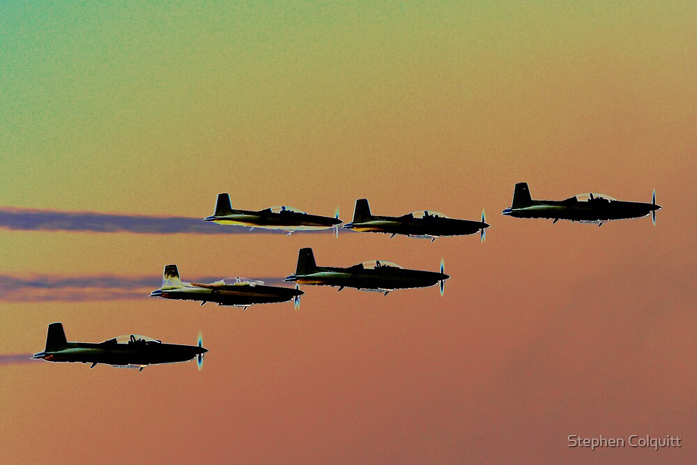 Formation flying by Stephen Colquitt