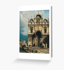 Canaletto - The School Of San Marco Greeting Card