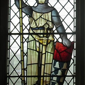 Fight The Good Fight, Stained Glass, Wareham, Dorset by MagsWilliamson