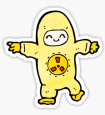 cartoon man in radiation suit Sticker