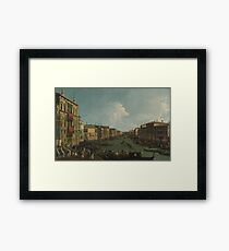 Canaletto - Venice - A Regatta On The Grand Canal Framed Print