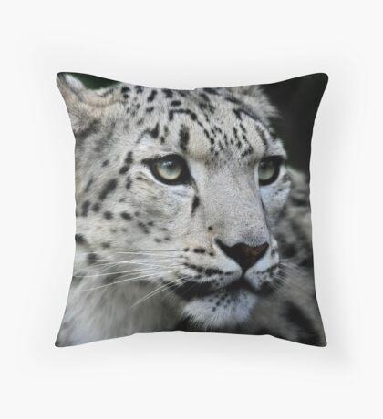 The Snow Leopard Throw Pillow