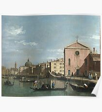 Canaletto - Venice - The Grand Canal Facing Santa Croce Poster