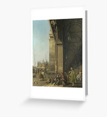 Canaletto - Venice - The Piazza San Marco Greeting Card