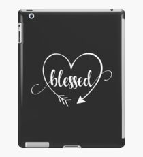 Blessed - Christian T-Shirt with Heart and Arrow iPad Case/Skin