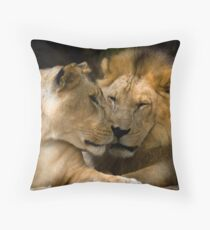 Feline Romance Throw Pillow