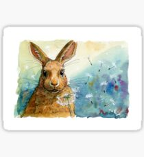 Funny Rabbits - with Dandelions 548 Sticker