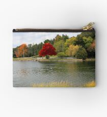 Autumn View of the Mystic River  Studio Pouch