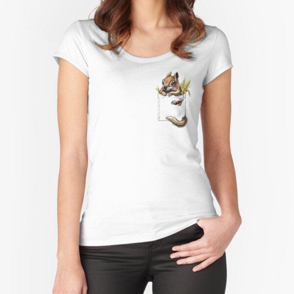 Pocket Chipmunk Tailliertes Rundhals-Shirt