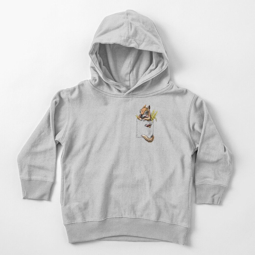 Pocket chipmunk Toddler Pullover Hoodie