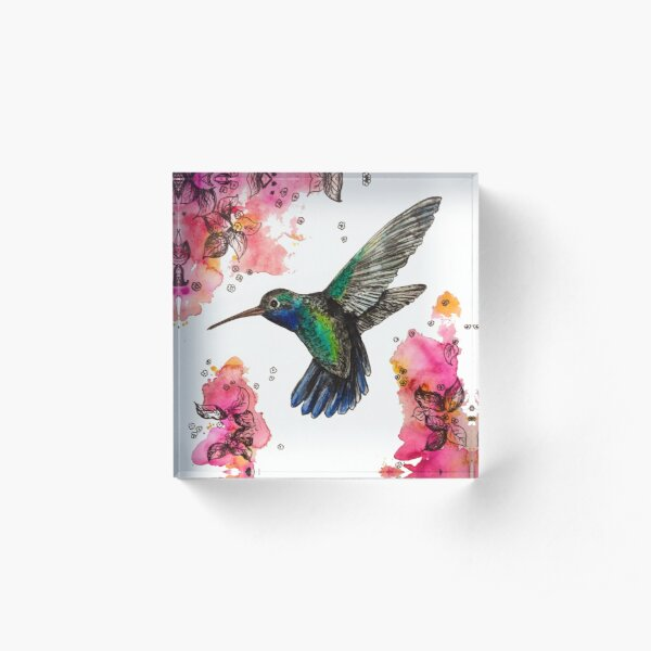Humming Bird Acrylic Block