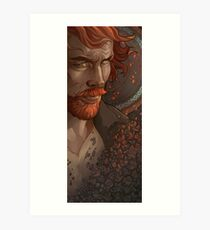 Captain Flint, Black Sails Art Print
