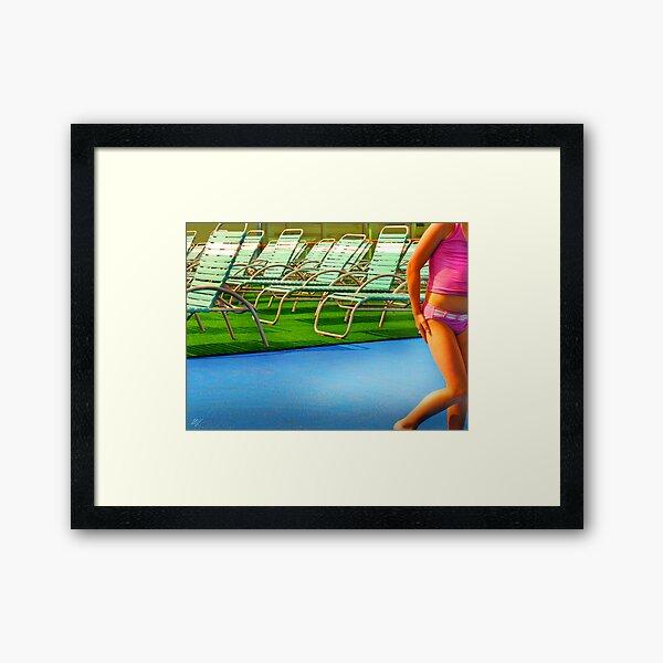 Deck Chairs Framed Art Print