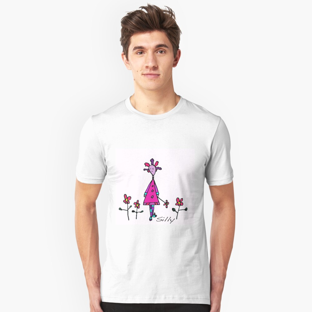 Silly Picked Flowers Unisex T-Shirt Front
