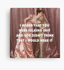 Hollaback Girl Eavesdropping Canvas Print