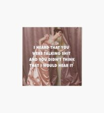 Hollaback Girl Eavesdropping Art Board