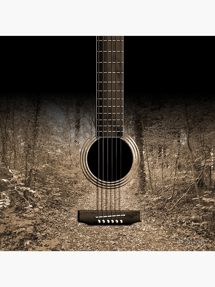 Sepia Forest Guitar by Wroxhawk