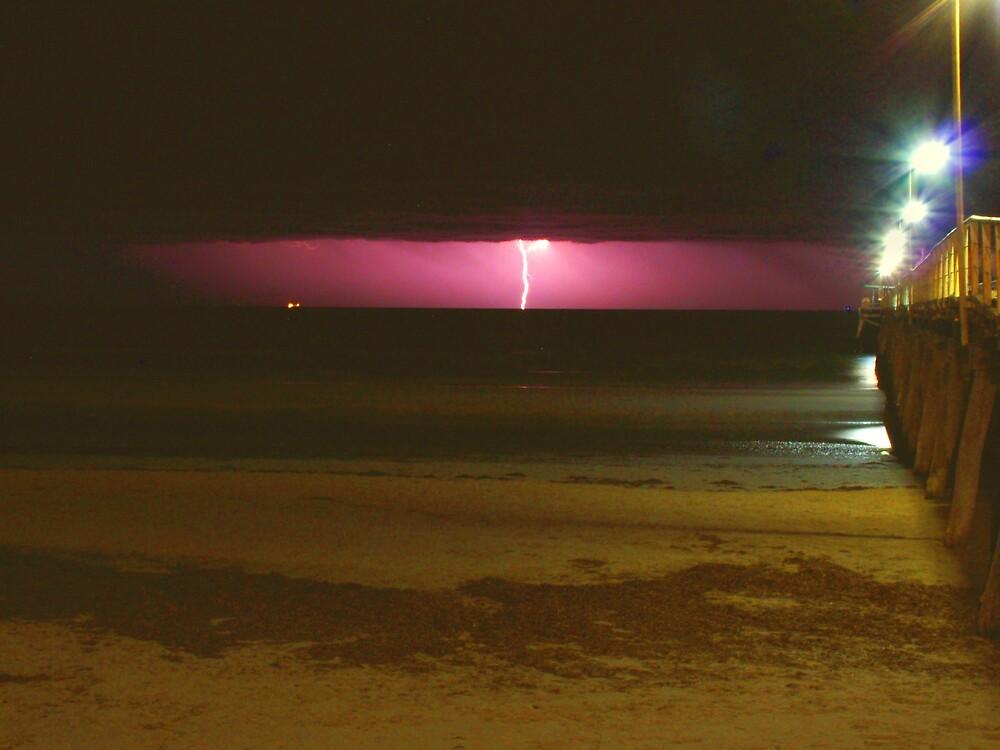 Lightning at Largs by monicav62