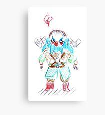 Blue Dwalin Canvas Print
