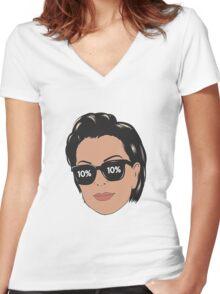 Kris Jenner 10% Women's Fitted V-Neck T-Shirt