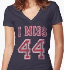 I Miss 44 Barack Obama Women's Fitted V-Neck T-Shirt