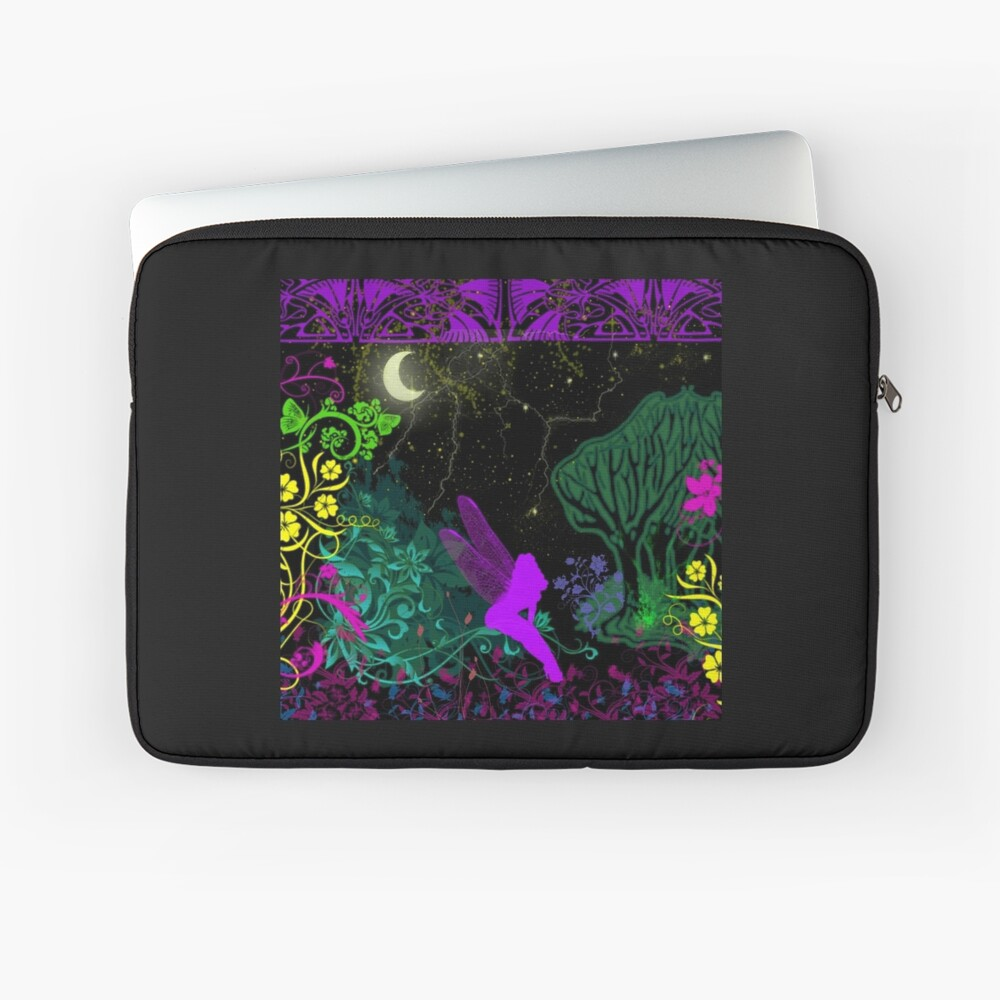 Moon Fairy by Julie Everhart Laptop Sleeve