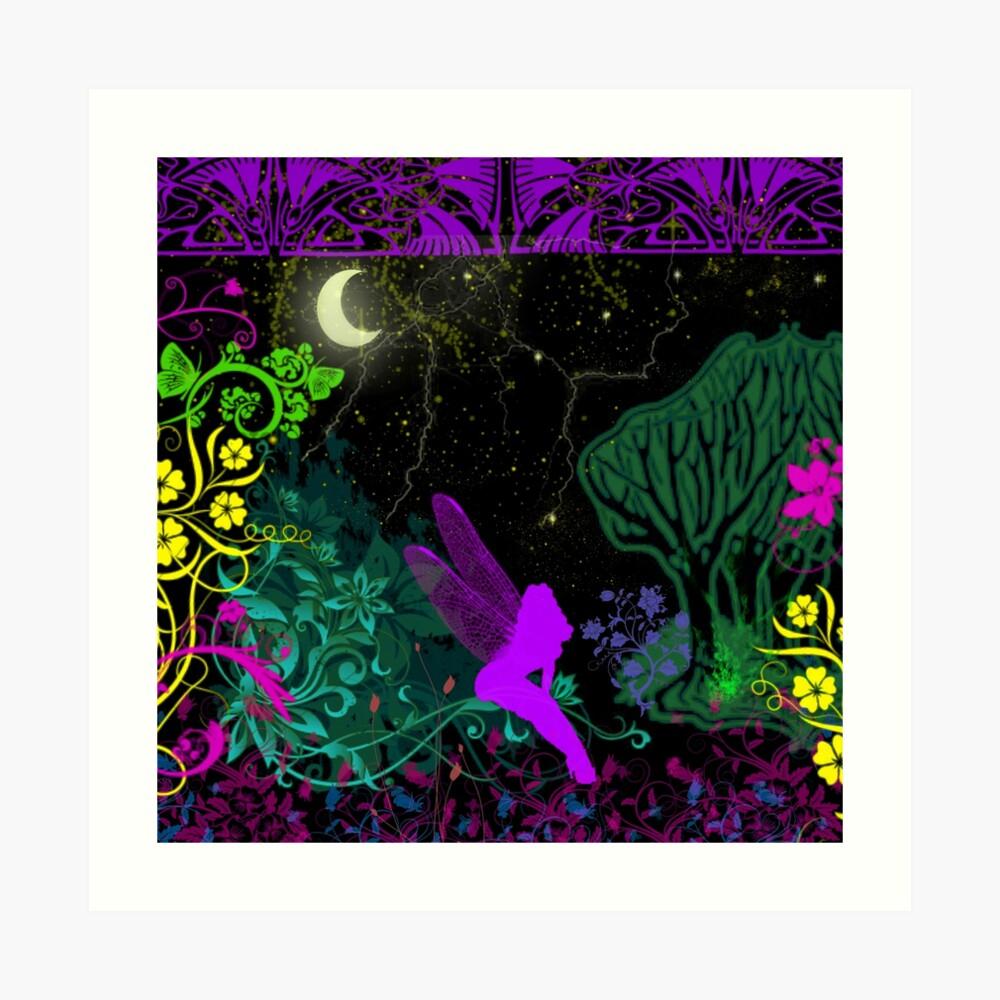 Moon Fairy by Julie Everhart Art Print