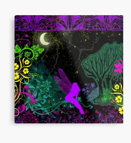 Moon Fairy by Julie Everhart Metal Print
