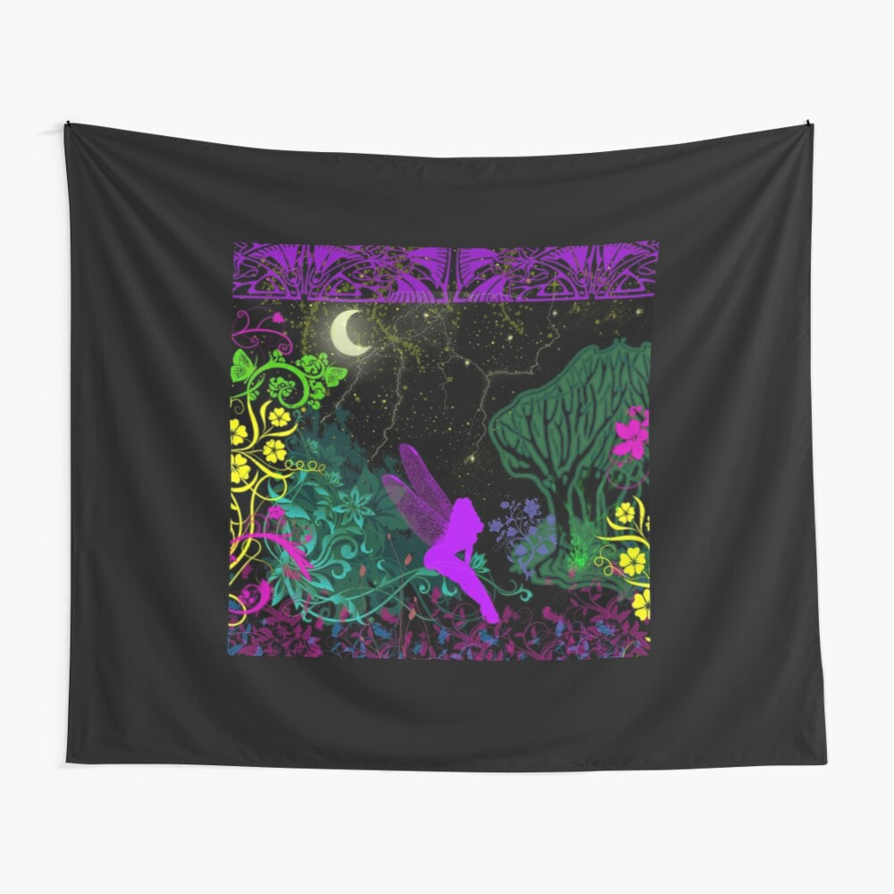 Moon Fairy by Julie Everhart Wall Tapestry