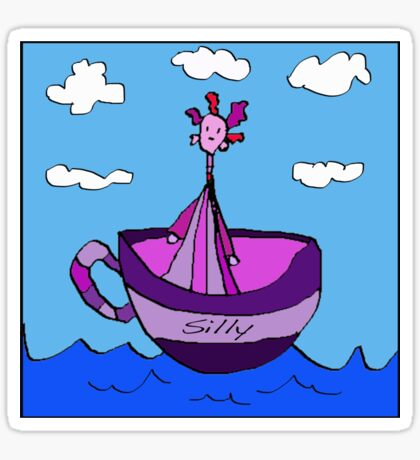 Silly Sailed Away In A Teacup Sticker
