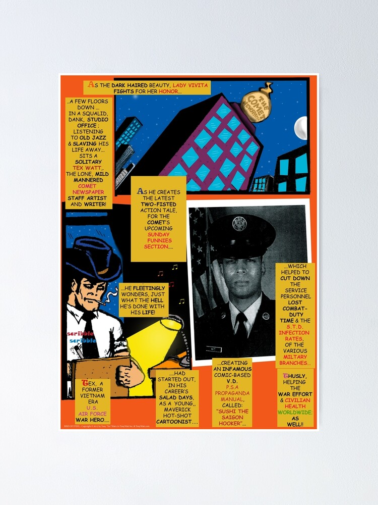 Alternate view of Bird of Steel Comix – # 7 of 8   - (Red Bubble POP-ART COLLECTION SERIES) Poster