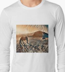 Horses in the Pasture  T-Shirt