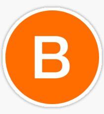 B Train Official Subway Logo Sticker